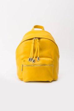 Sárga hátizsákok casual fém kiegészítők