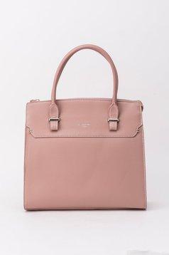 Rózsaszínű táska irodai műbőr rövid fülekkel