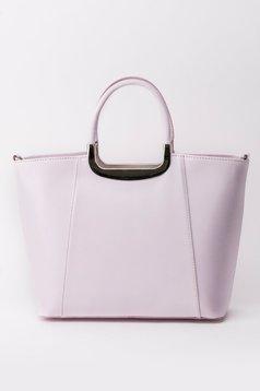 Rózsaszínű irodai táska rövid fülekkel