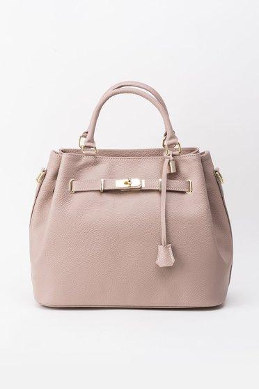 Rózsaszínű irodai táska fémes kiegészítő