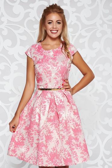 Pink alkalmi harang ruha belső béléssel övvel ellátva