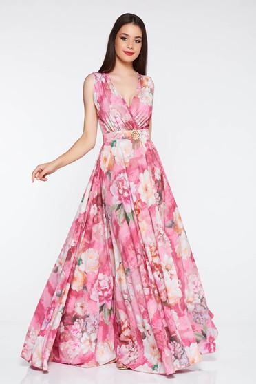 Pink PrettyGirl alkalmi harang ruha mély dekoltázs fémes kiegészítő a3946254c4