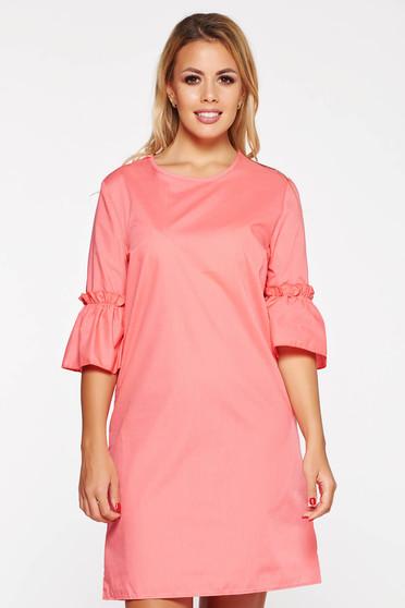 Pink StarShinerS casual bő szabású ruha rövid nem elasztikus pamut d66a298048