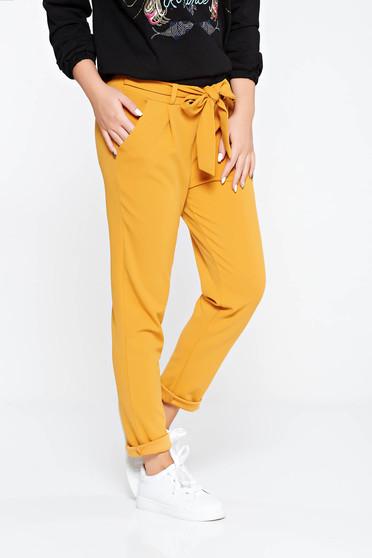Mustar SunShine nadrág casual enyhén rugalmas anyag magas derekú zsebes