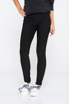 Fekete SunShine nadrág casual magas derekú rugalmas anyag szűk szabás