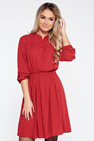 Burgundy SunShine ruha casual derékban rugalmas harang lenge anyagból