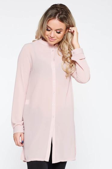 Rózsaszínű női ing elegáns bő szabású enyhén áttetsző anyag