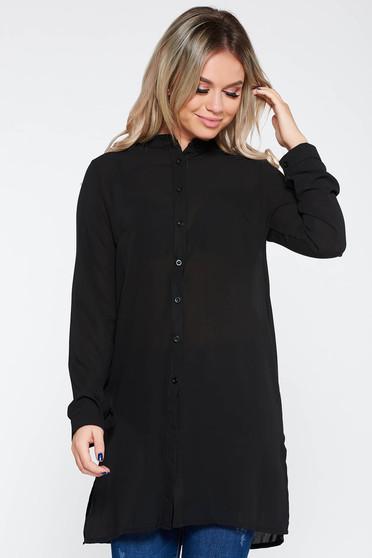 Fekete női ing elegáns bő szabású enyhén áttetsző anyag
