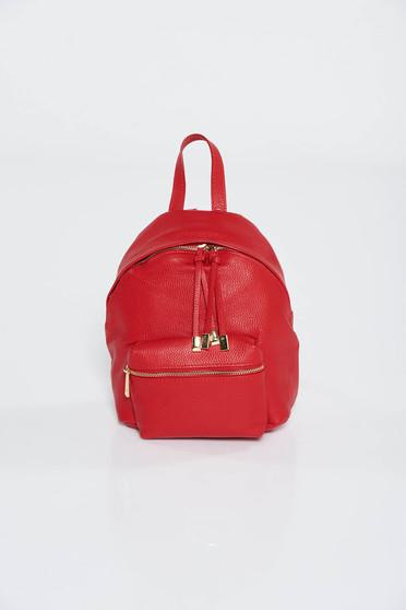Piros hátizsákok casual fém kiegészítők