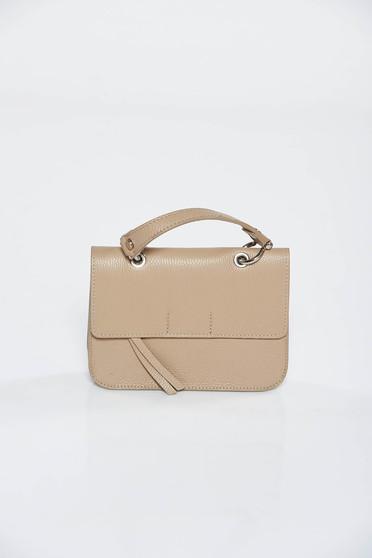 Krém casual táska