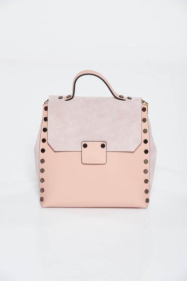 Rózsaszínű hátizsákok casual fémes szegecsekkel