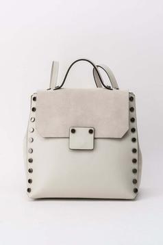 Krém casual hátizsákok fémes szegecsekkel