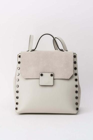 Krém hátizsákok casual fémes szegecsekkel