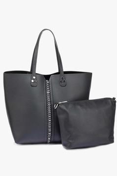 Fekete táska irodai műbőr