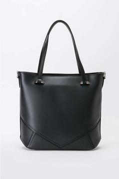 Fekete táska irodai rövid fülekkel