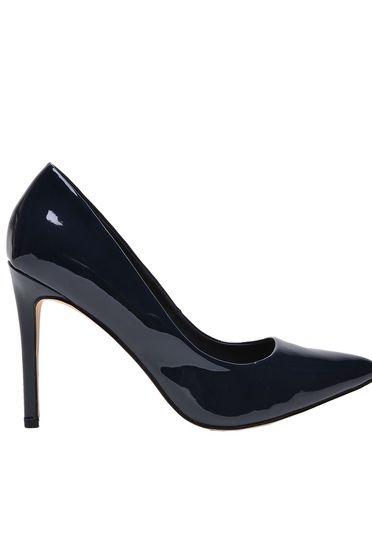 Sötétkék Top Secret cipő elegáns lakkozott öko bőr enyhén hegyes orral