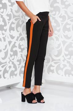 Fekete StarShinerS irodai kónikus nadrág enyhén elasztikus szövet