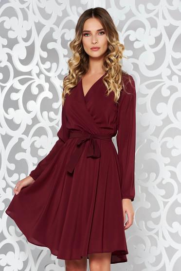 Burgundy StarShinerS ruha elegáns harang fátyol derékban rugalmas övvel  ellátva belső béléssel f6463a3711