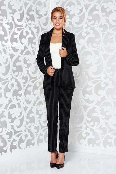 Fekete LaDonna irodai kónikus nadrág enyhén elasztikus szövet