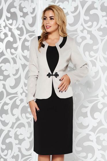 Szürke női kosztüm irodai vastag anyag