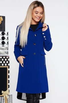 Kék LaDonna best impulse elegáns gyapjú belső béléssel nagykabát ... 6f4c0d8120