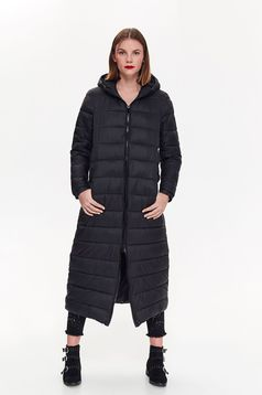 Fekete Top Secret casual vízhatlan dzseki a kapucni nem távolítható el