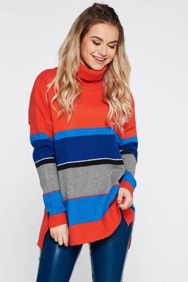 Narancs Top Secret casual bő szabású pulóver kötött anyag