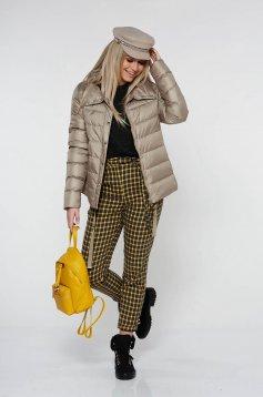 Mustar StarShinerS nadrág casual kónikus rugalmatlan szövet zsebes övvel ellátva magas derekú