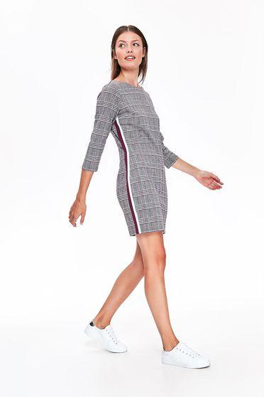 Szürke Top Secret casual bő szabású ruha enyhén elasztikus szövet kockás anyag