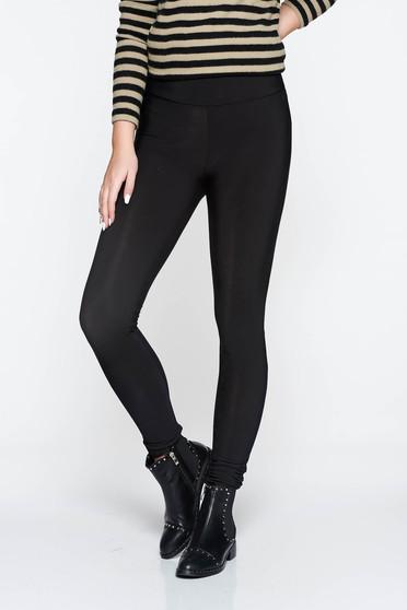 Fekete PrettyGirl jégernadrág casual szűk szabás magas derekú rugalmas anyag