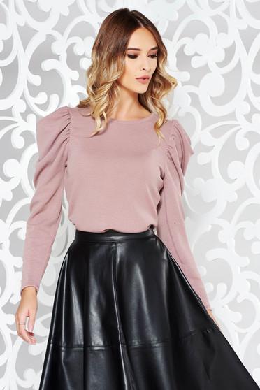 Rózsaszínű StarShinerS pulóver elegáns kötött anyag