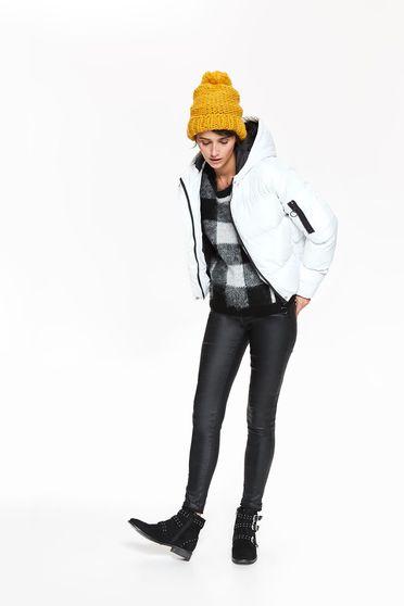 Fehér Top Secret dzseki casual vízhatlan belső béléssel a kapucni nem távolítható el