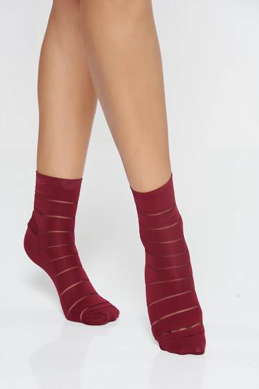 Burgundy harisnyák & zoknik lekerekitett sarku harisnya rugalmas anyag