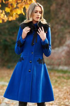 39d75fcdd3 Kék LaDonna Elegant Look Nagykabát