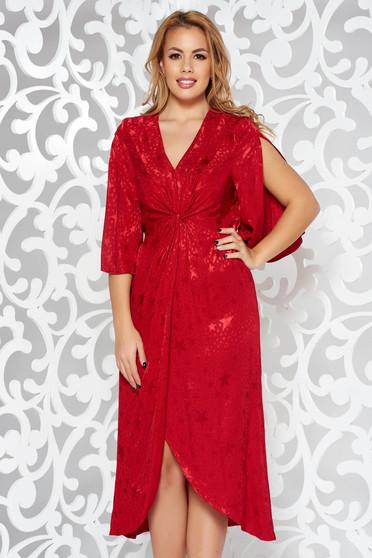 Piros alkalmi harang ruha szatén anyagból derékban rugalmas