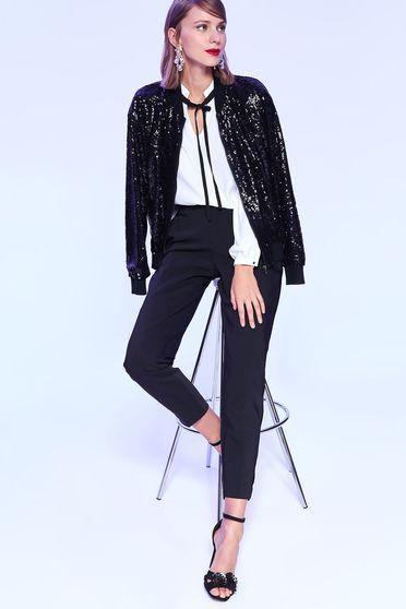 Fekete Top Secret kónikus nadrág pamutból készült elegáns