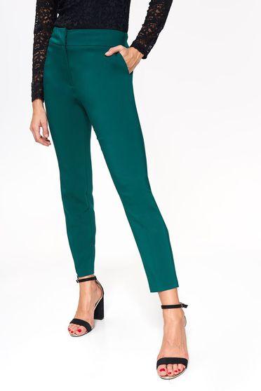 Sötétzöld Top Secret elegáns kónikus nadrág pamutból készült