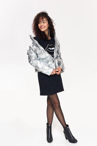 Ezüst Top Secret casual vízhatlan dzseki fémes jelleggel
