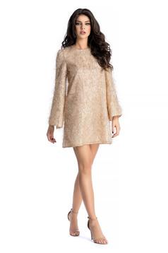 Arany Ana Radu alkalmi ruha pántokkal 073c381c69