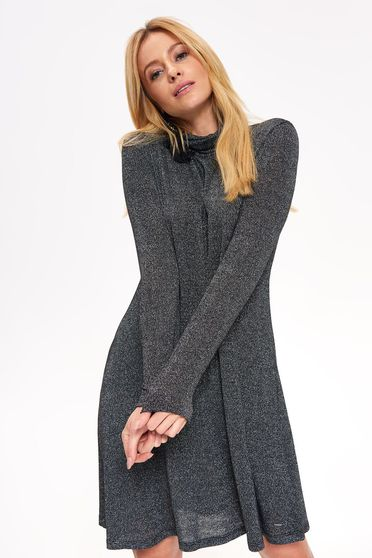 Fekete Top Secret bő szabású ruha hosszú ujjak finom tapintású anyag