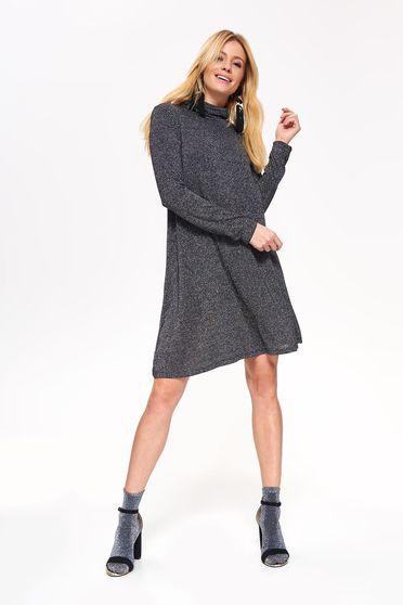 dab2f13a5d Fekete Top Secret bő szabású ruha hosszú ujjak finom tapintású anyag