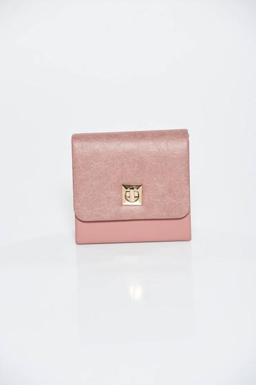 Rózsaszínű alkalmi műbőr táska