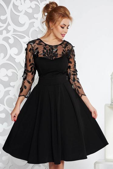 Fekete Artista alkalmi harang ruha enyhén elasztikus szövet belső béléssel szivacsos mellrésszel