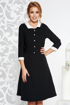 Fekete irodai midi harang ruha enyhén rugalmas szövet belső béléssel