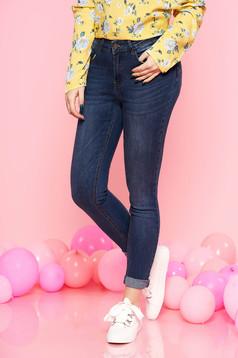 Kék Top Secret casual nadrág enyhén elasztikus pamut