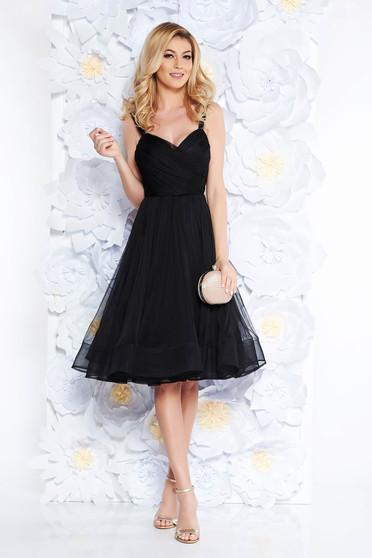 6ac536d29f Fekete Ana Radu harang tüll belső béléssel szivacsos mellrész ruha