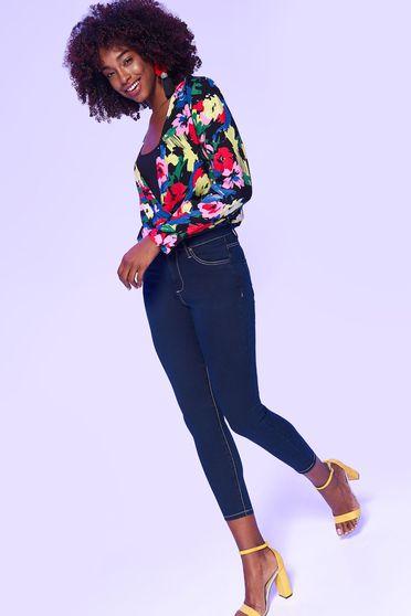 Kék Top Secret casual nadrág szűk szabás enyhén rugalmas anyag