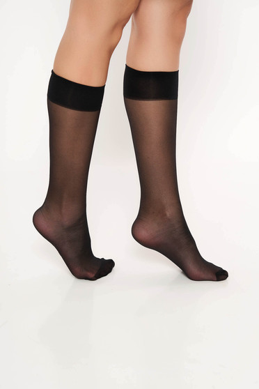 Fekete harisnyák & zoknik rugalmas anyag derekon gumirozott harisnya csuszasgatlo sav