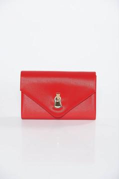 Piros alkalmi műbőr táska