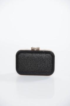 Fekete alkalmi táska fémes jelleg hosszú lánc típusú pánt